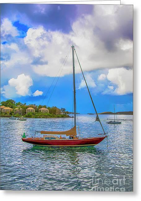 Serenity At The Sea Greeting Card