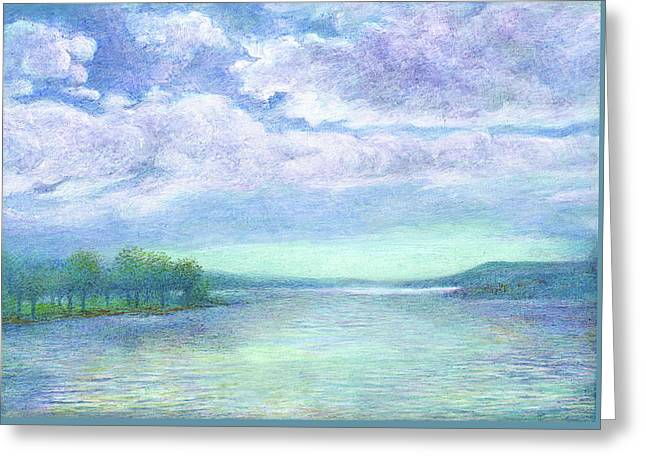 Serenity Blue Lake Greeting Card