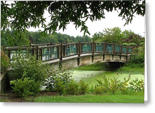 Greeting Card featuring the photograph Serenity Bridge by David Dunham