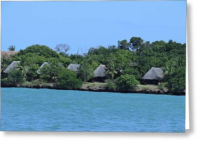 Serenity - Chale Island Kenya Africa Greeting Card