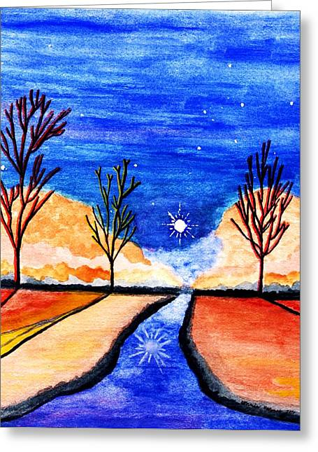 Serenity Evening Greeting Card by Connie Valasco