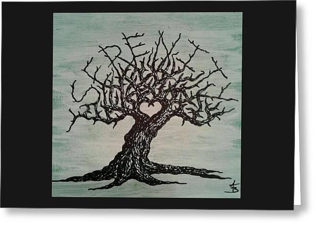 Serenity Love Tree Greeting Card