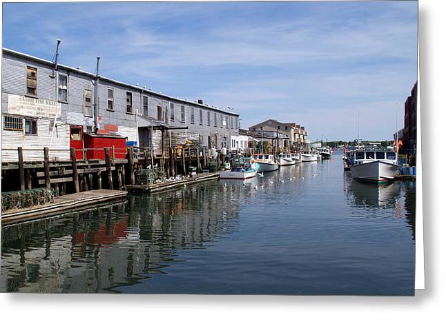 Greeting Card featuring the photograph Serenity Of The Harbor by Lynda Lehmann