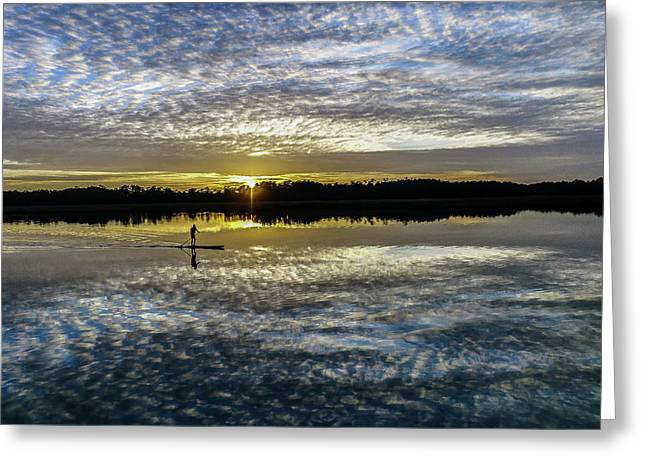 Serenity On A Paddleboard Greeting Card