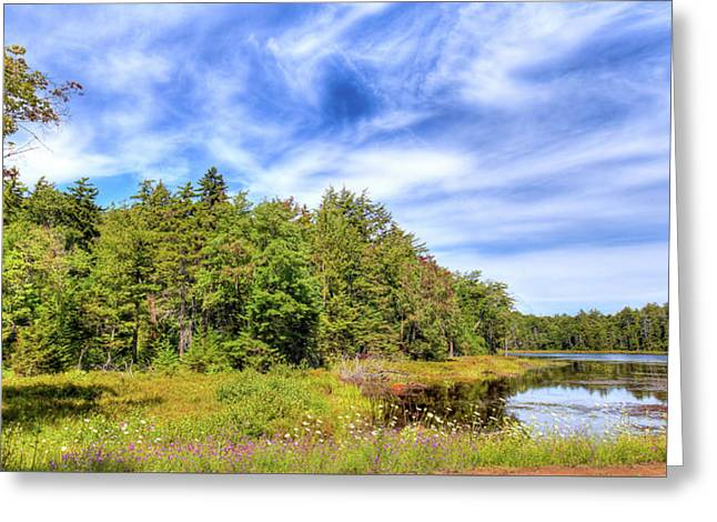Greeting Card featuring the photograph Serenity On Bald Mountain Pond by David Patterson