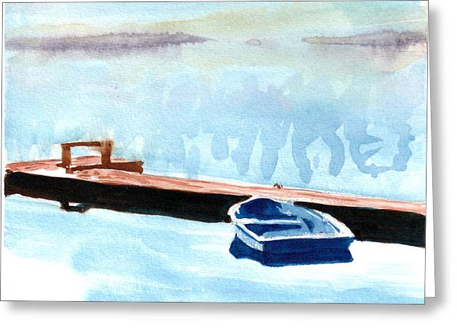 Serenity On The Lake Greeting Card by Kerry Hartjen