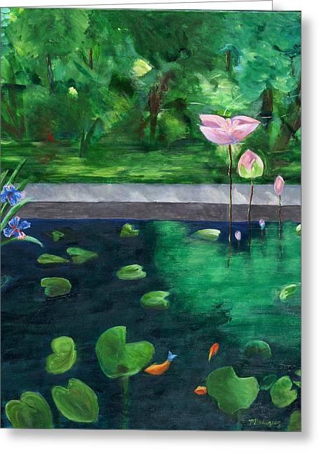 Serenity Pond Greeting Card