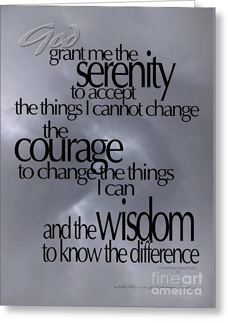 Serenity Prayer 05 Greeting Card
