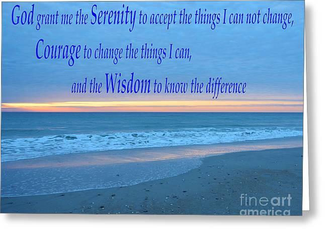 Serenity Prayer-1 Greeting Card