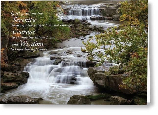Serenity Prayer Greeting Card by Dale Kincaid