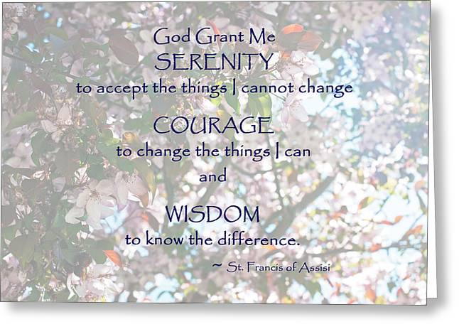 Serenity Prayer Greeting Card by Edward Congdon