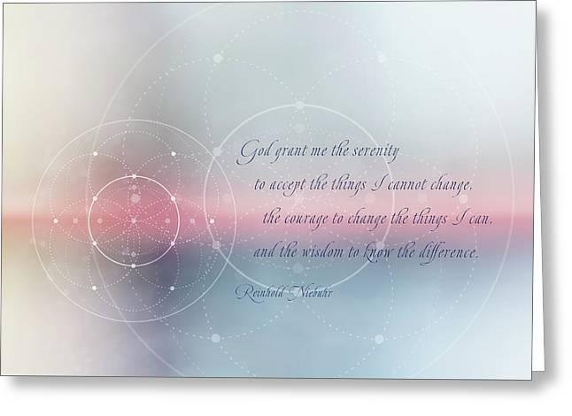 Serenity Prayer Greeting Card by Terry Davis