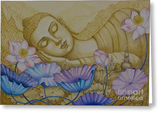 Serenity Greeting Card by Yuliya Glavnaya