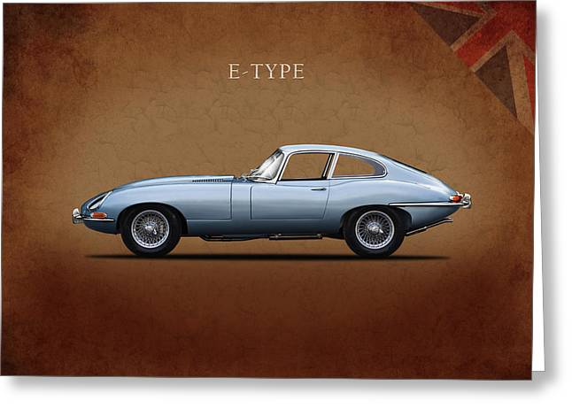 Series 1 E Type Greeting Card by Mark Rogan