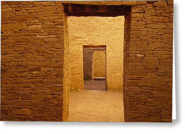 Series Of Doors In An Ancient Building Greeting Card by Panoramic Images