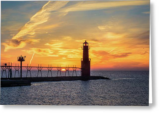 Greeting Card featuring the photograph Serious Sunrise by Bill Pevlor