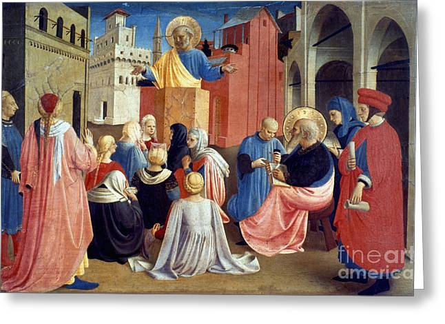 Sermon Of St Peter Greeting Card by Granger
