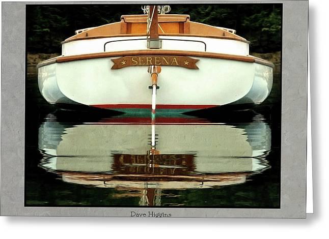 Serna, South Bristol, Maine  Greeting Card by Dave Higgins