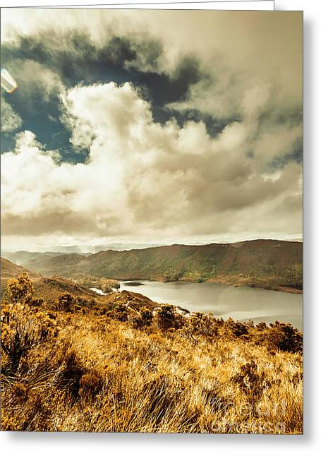 Serpentine Dam Tasmania Greeting Card
