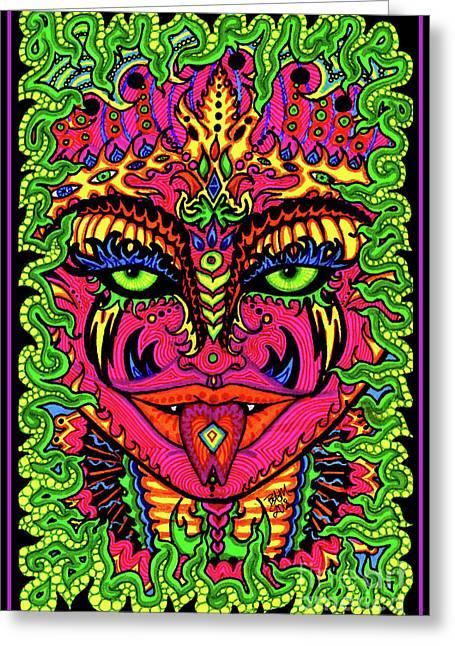 Serpentine Ellora Greeting Card