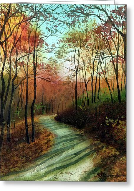 Serpentine Road Greeting Card