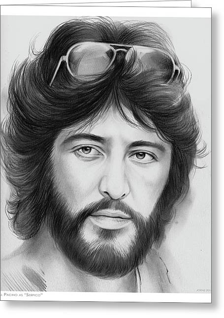 Serpico Greeting Card by Greg Joens