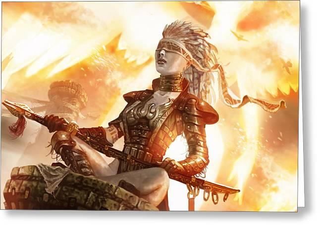 Serra Avatar Greeting Card