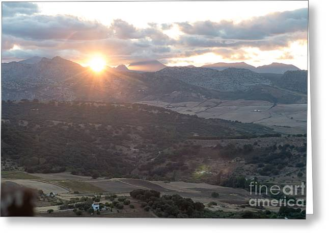 Serrania De Ronda Sunset Greeting Card