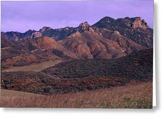 Serrano Valley And Tri-peaks Greeting Card by Soli Deo Gloria Wilderness And Wildlife Photography