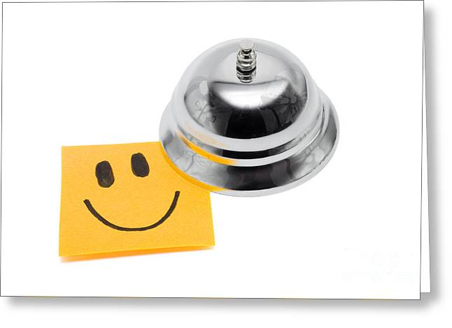 Service With A Smile On White Greeting Card