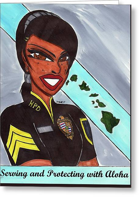 Serving And Protecting With Aloha-1 Greeting Card