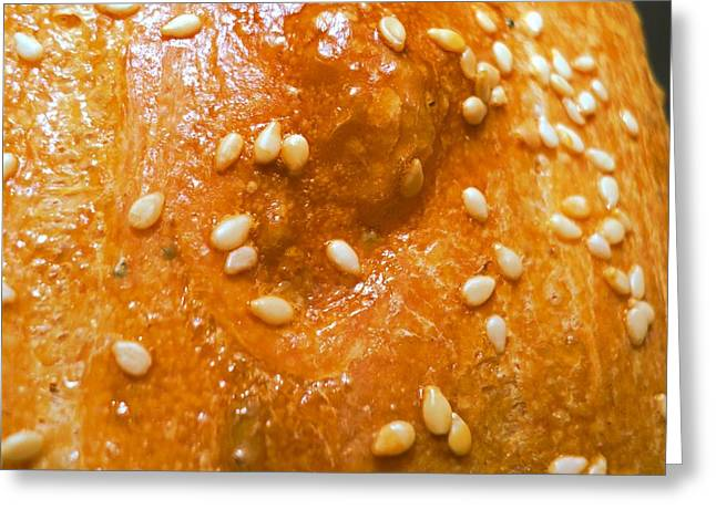 Sesame Seed Bread Crust Greeting Card by Padre Art