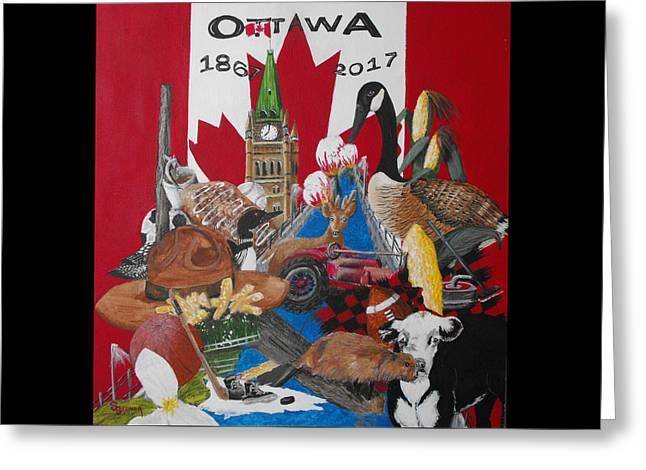 Sesquicentennial Ottawa Greeting Card by Susan Bruner