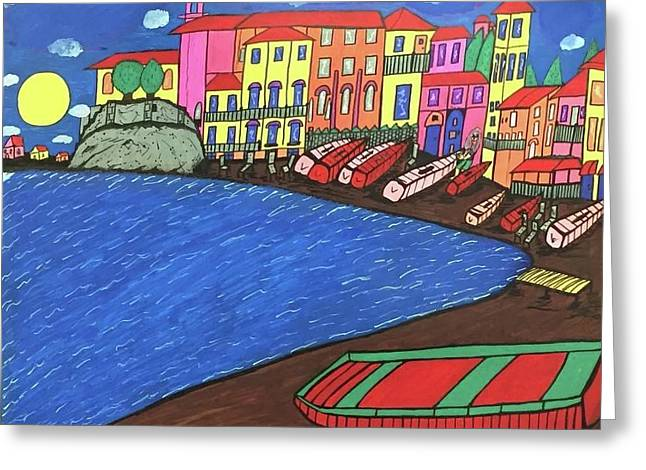 Sestri Levante Italy Greeting Card