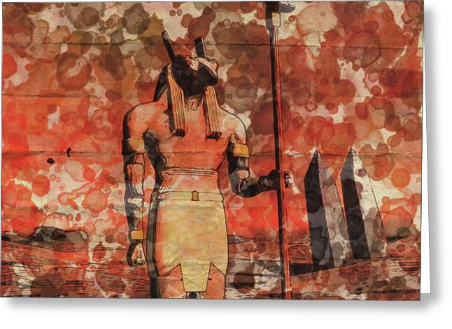 Set, Egyptian God By Raphael Terra And Mary Bassett Greeting Card