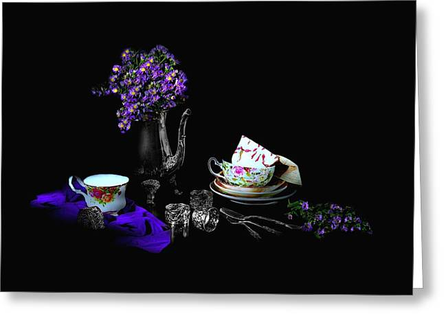 Set For Tea Greeting Card