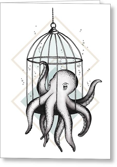 Set Me Free Greeting Card by Barlena