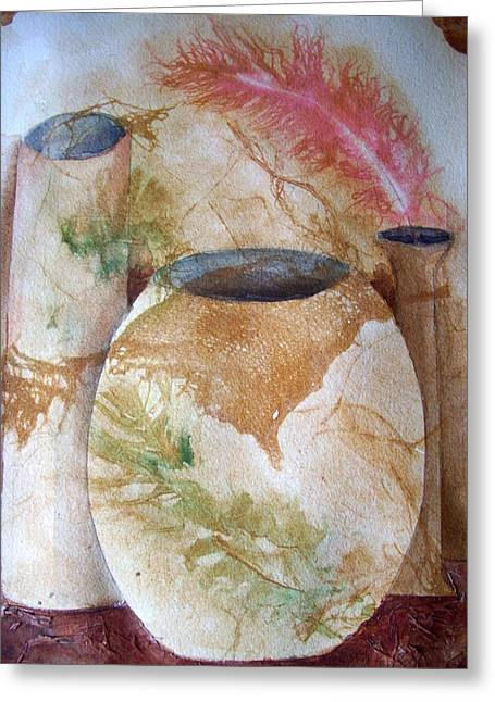 Set Of Vases Greeting Card