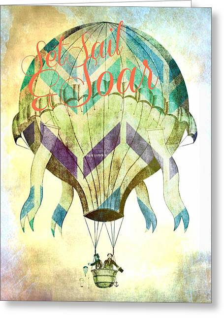 Set Sail And Soar Greeting Card by Brandi Fitzgerald