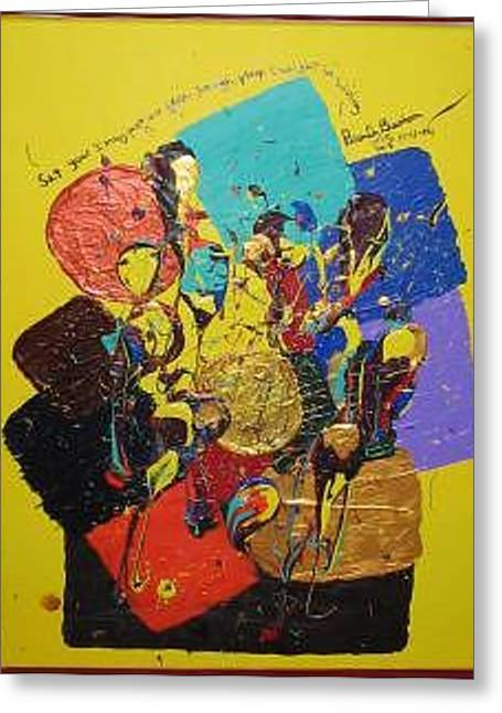 Set Your Imagination Free Greeting Card by Brenda Basham Dothage