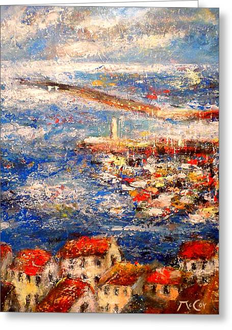 Sete Port France Greeting Card by K McCoy