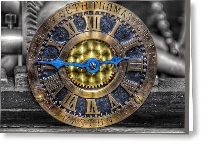 Seth Thomas 1911 Clock Mechanism In Bromo Seltzer Tower Baltimore - #2 Greeting Card