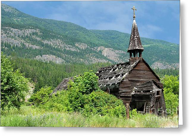Greeting Card featuring the photograph Seton Portage Church 2 by Rod Wiens