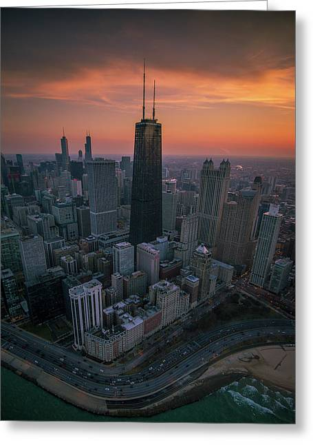 Setting On Chicago Greeting Card