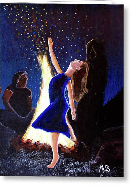 Setting On Fire Greeting Card