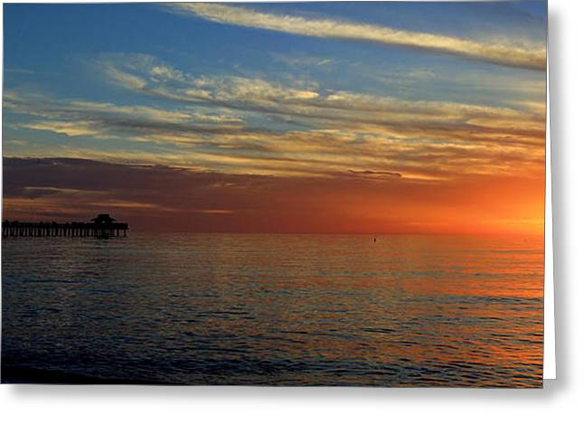 Setting Sun In Naples Greeting Card