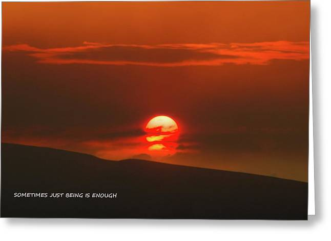 Setting Sun Over The Wenas Valley  Greeting Card