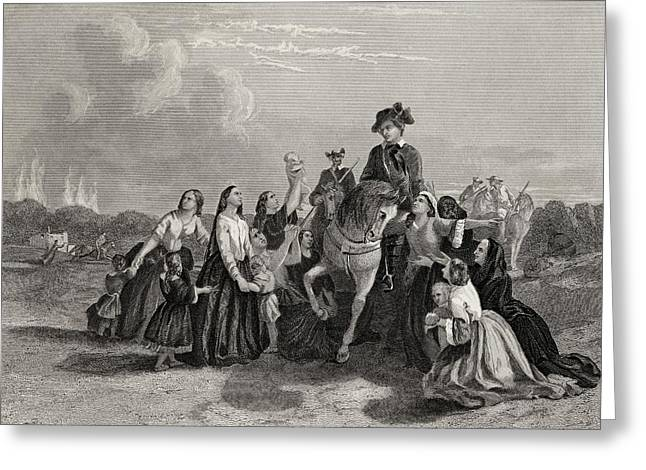 Settlers Imploring Washington S Greeting Card by Vintage Design Pics
