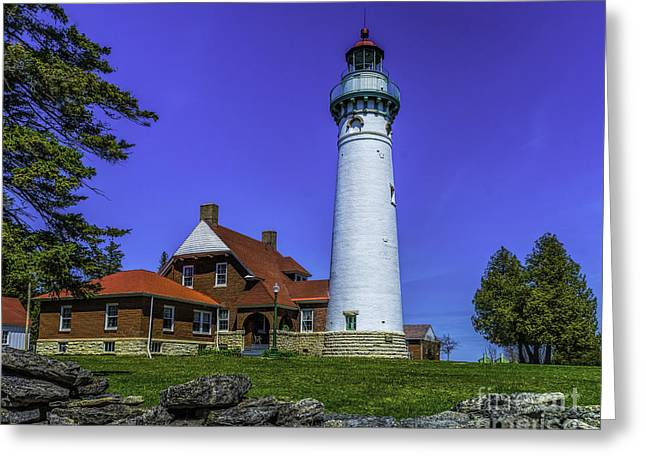 Seul Choix Point Lighthouse Greeting Card by Nick Zelinsky