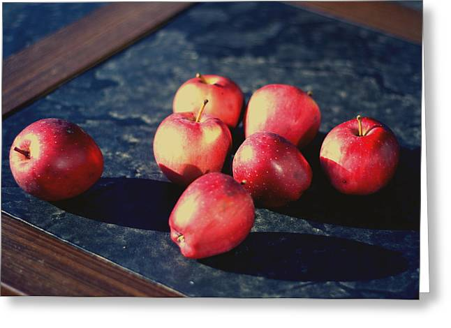 Seven Apples Greeting Card by Susie DeZarn